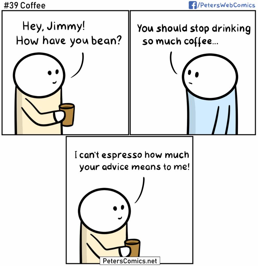 coffee pun comic
