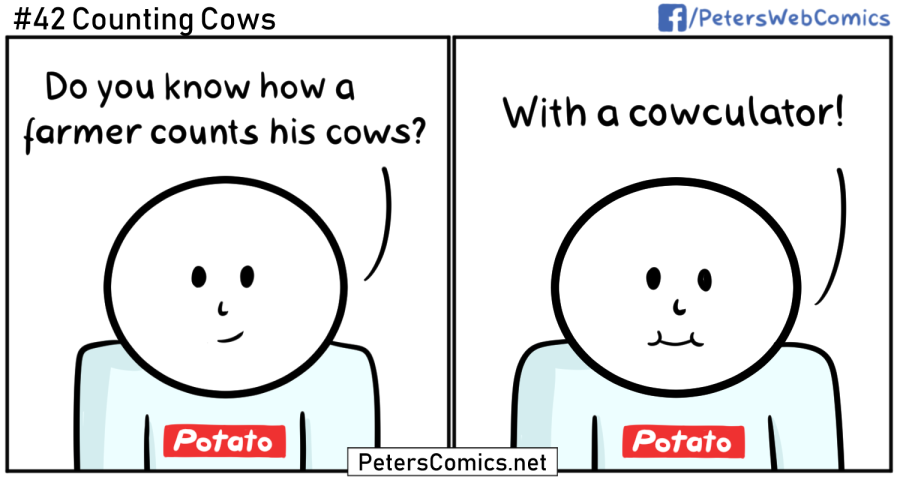 counting cows punny comic
