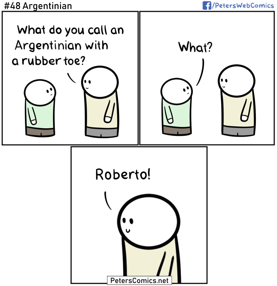 Argentinian dad joke comic
