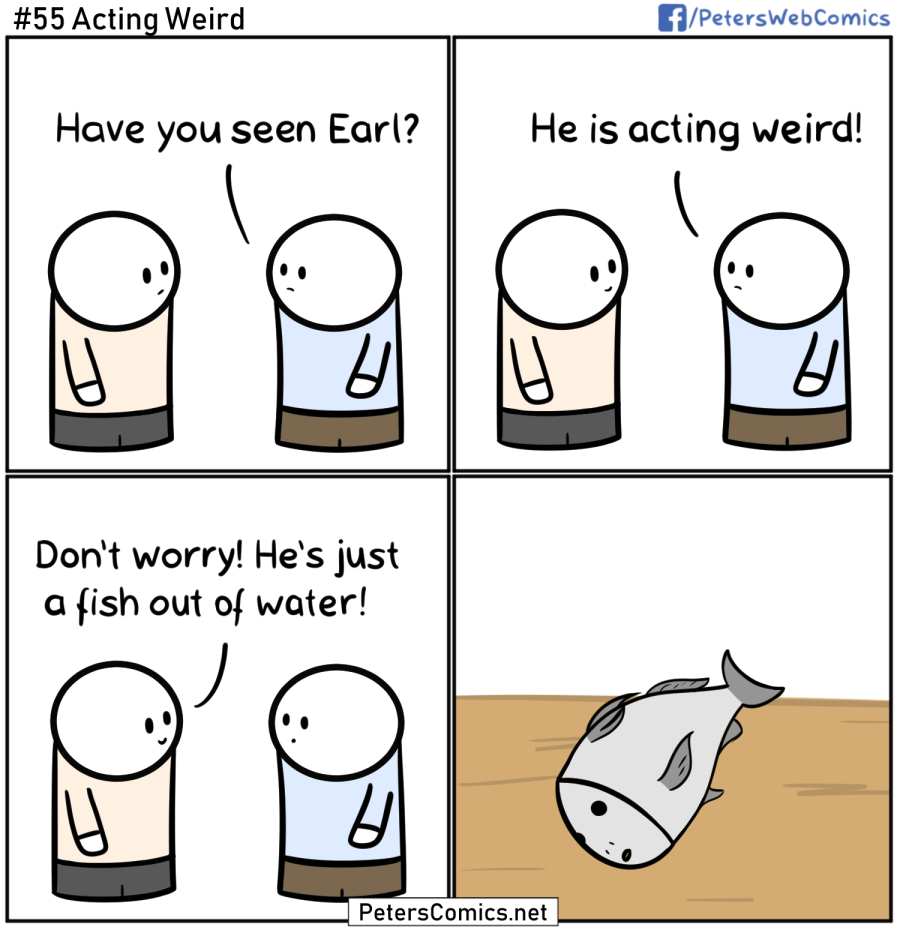A fish out of water comic