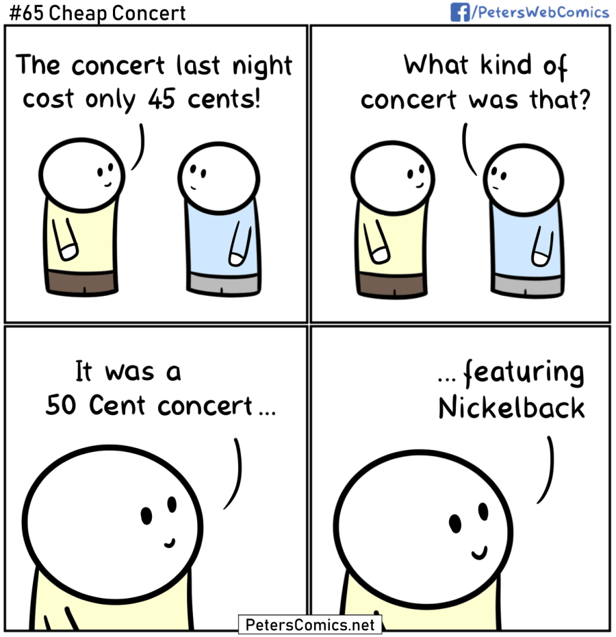 cheap concert punny funny comic