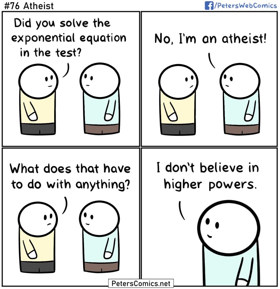 funny punny comic joke atheist