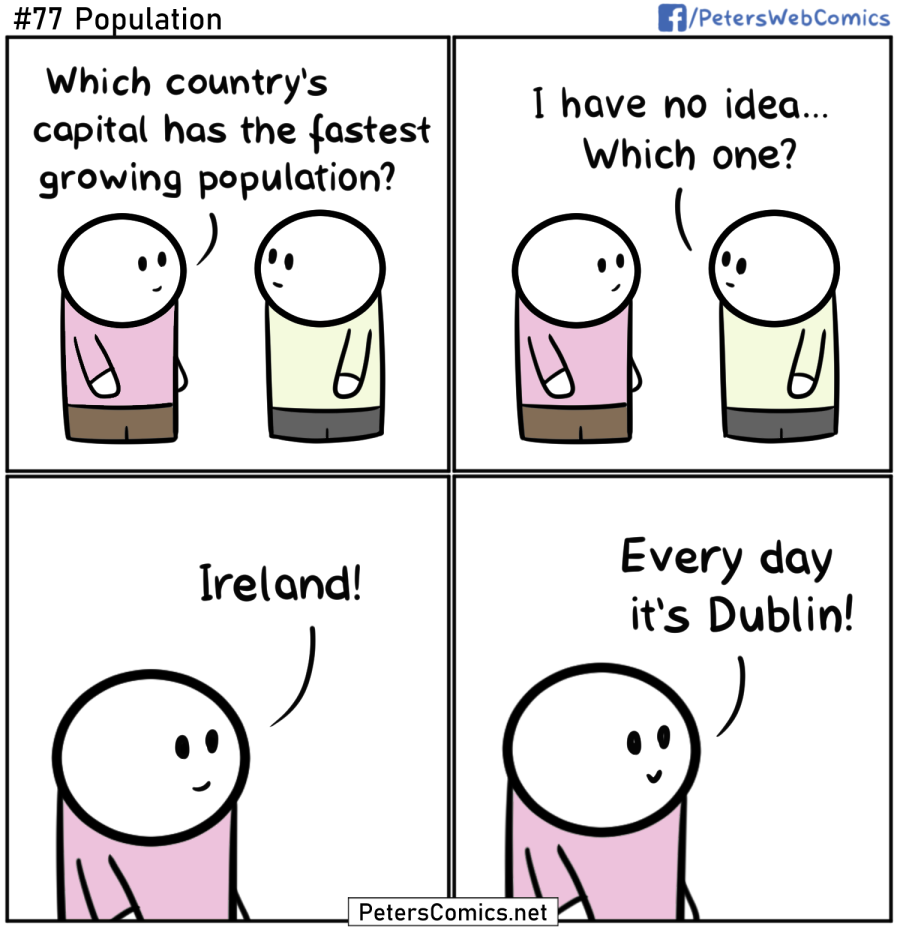 funny punny comic joke population ireland