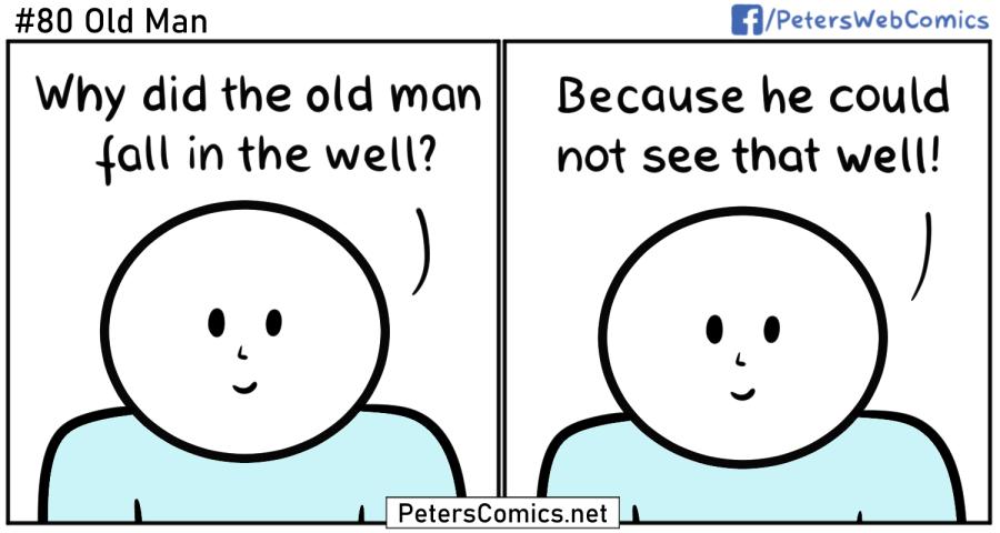 old man funny punny joke comic