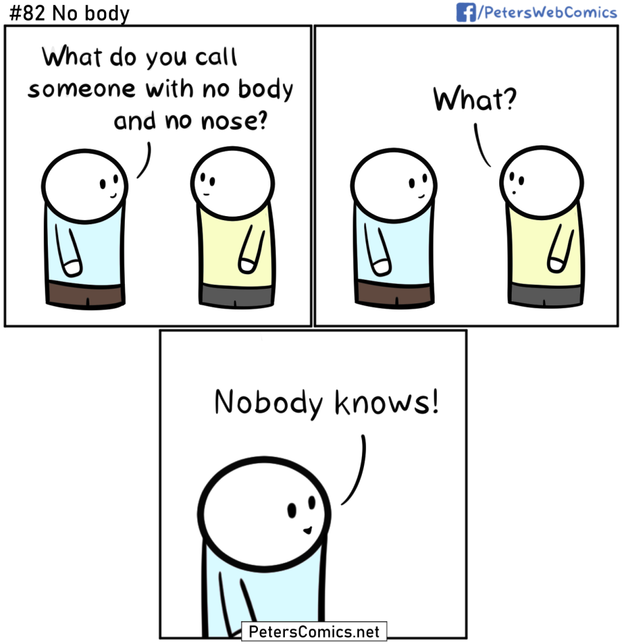 no body funny punny joke comic